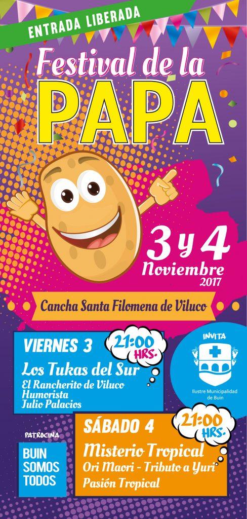 FESTIVAL DE LA PAPA / 3 Y 4 DE NOVIEMBRE / 21°° HRS.