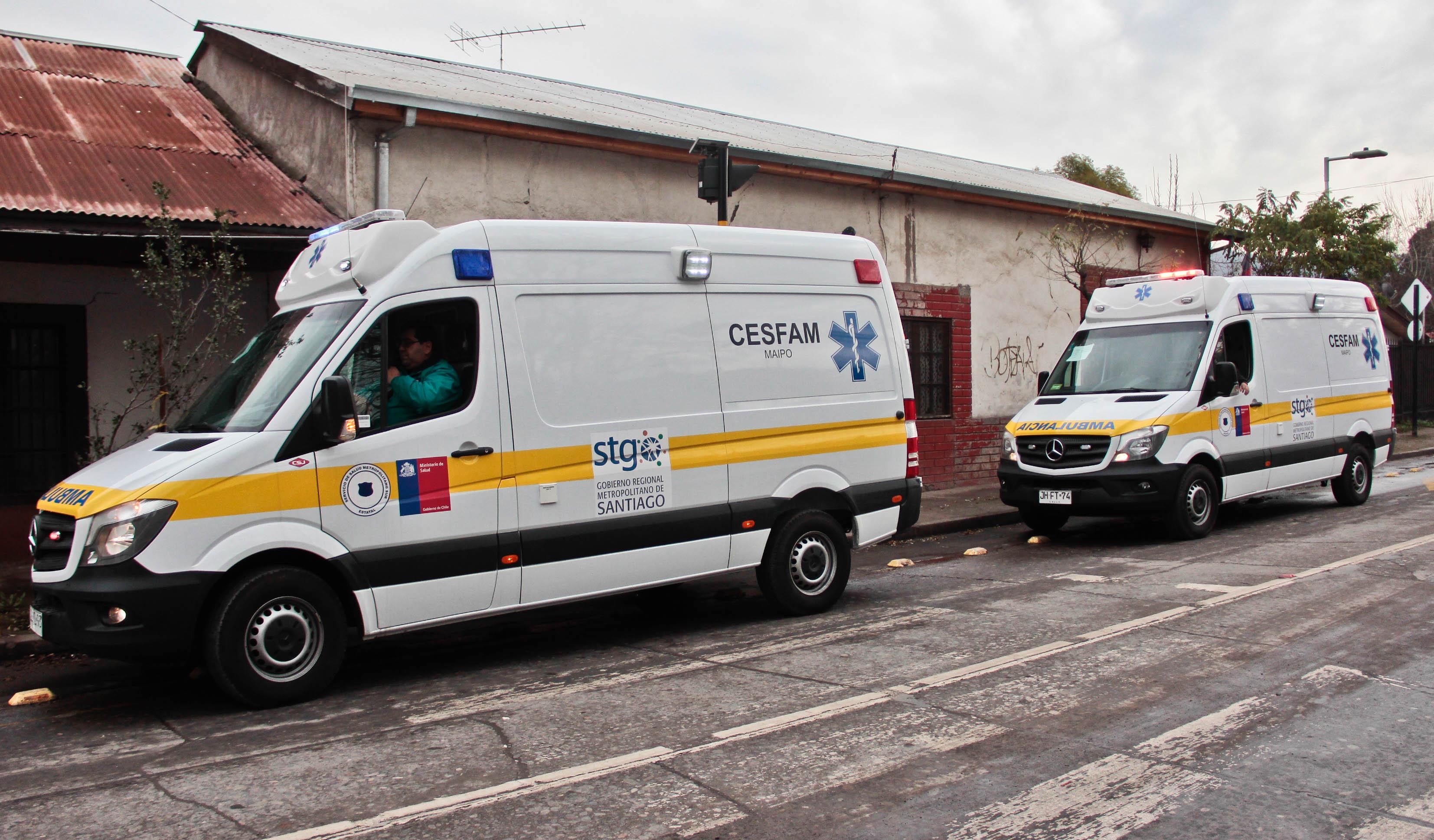 Vecinos de Maipo, Viluco y Valdivia de Paine cuentan con dos nuevas ambulancias