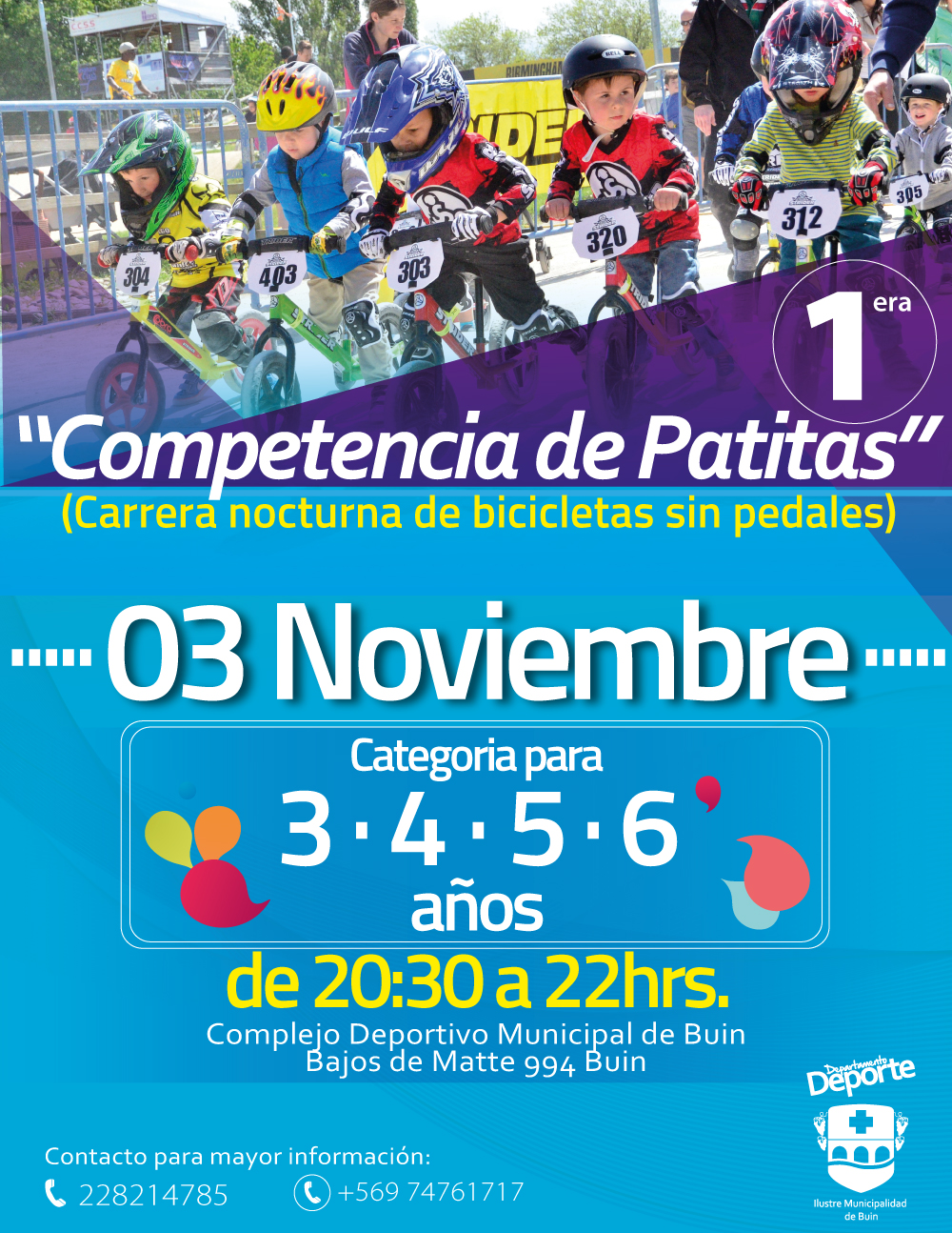 1° COMPETENCIA PATITAS / 03 DE NOV / 20:30 HRS.