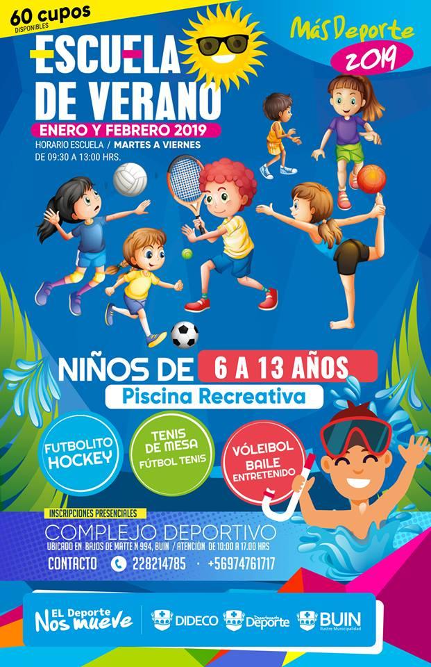 ESCUELA DE VERANO DEPORTIVA PARA NIÑOS DE 6 A 13 AÑOS